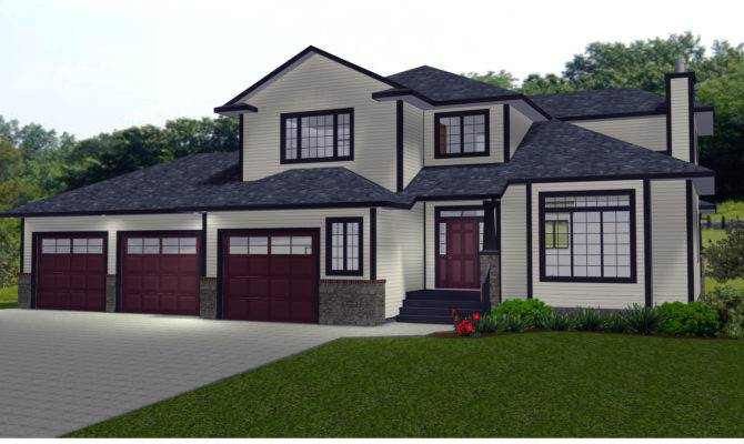 Rambler House Plans Car Garage Large Best