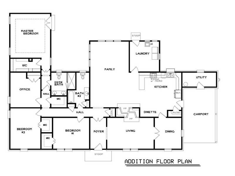 Ranch Home Floor Plans Popular Addition House Designs House Plans 41517