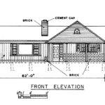 Ranch Home Plan Front Bedroom House Back