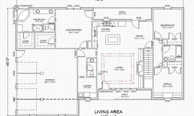 Ranch Home Plan Single Level Finished Basement