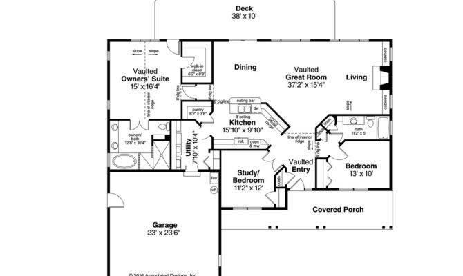 Ranch House Floor Plans Simple Slab