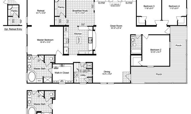 Ranch House Floor Plans Wrap Around Porch
