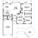 Ranch House Plan Connelly Floor