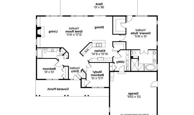 Ranch House Plan Fern Floor