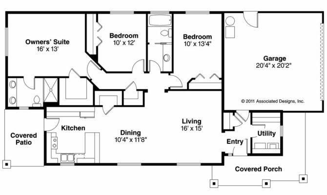 Ranch House Plan Hopewell Floor