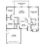 Ranch House Plan Lamar Floor