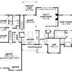 Ranch House Plan Manor Heart Floor