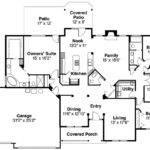 Ranch House Plan Pleasanton Floor