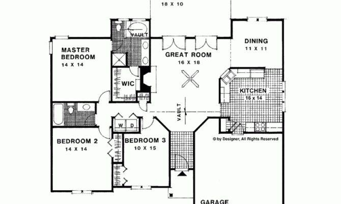 Ranch House Plan Traditional Style Home Square Feet