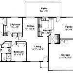 Ranch House Plan Weston Floor