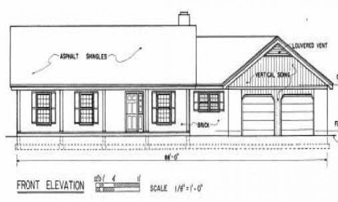 Ranch House Plans Basement Car Garage