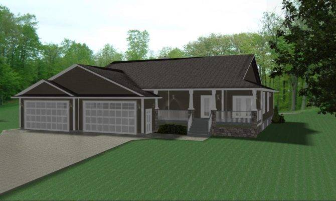 Ranch House Plans Car Garage Design