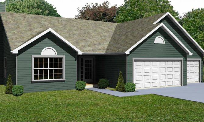 Ranch House Plans Car Garage Ideas Design