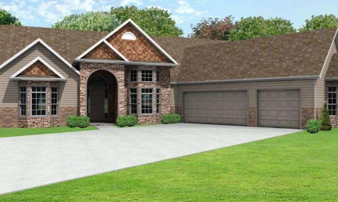 Ranch House Plans Car Garage Style Design