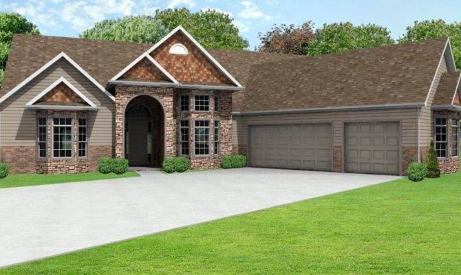 Ranch House Plans Car Garage