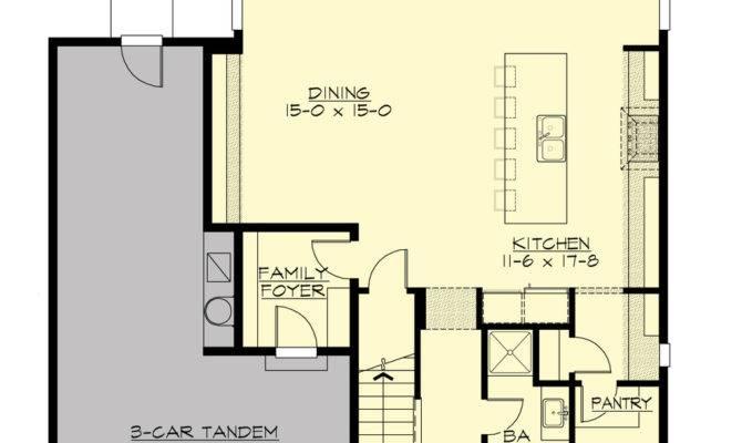 Ranch House Plans Car Tandem Garage