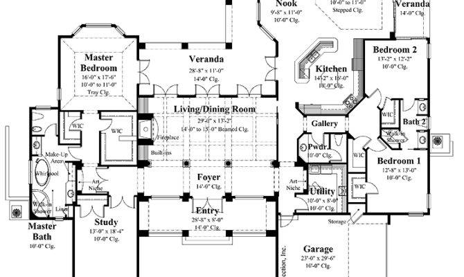 Ranch House Plans Country Kitchen