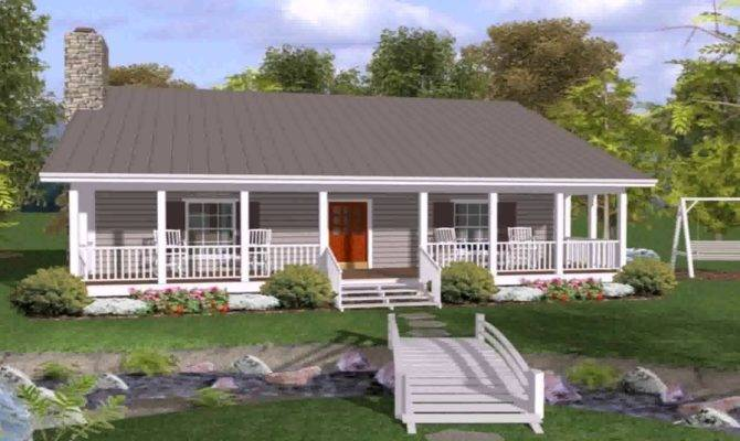 Ranch House Plans Front Back Porch Youtube