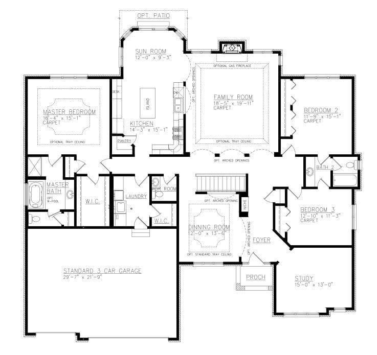 Ranch House Plans Jack Jill Bathroom, House Plans With Jack And Jill Bathrooms