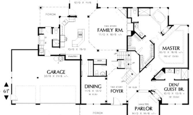 Ranch House Plans Luxury Traditional Style