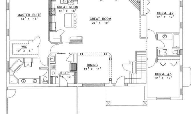 Ranch House Plans Open Floor Plan Chanhassen Ridge