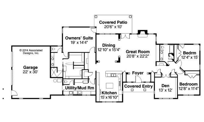 Ranch House Plans Parkdale Associated Designs