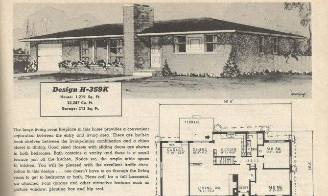 Ranch House Plans Vintage Budget Wise