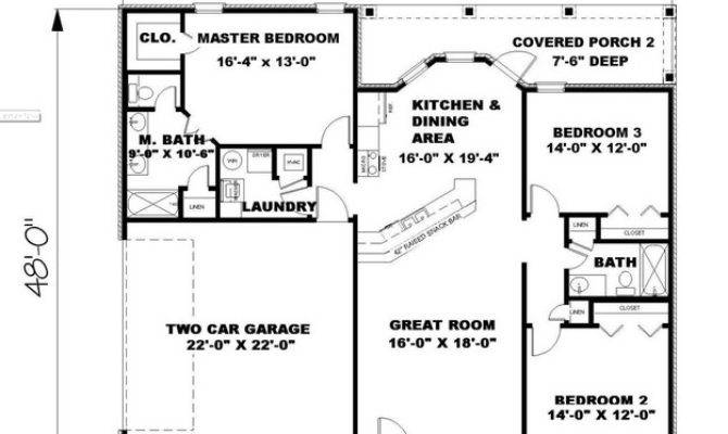 Ranch Plan Square Feet Bedrooms Bathrooms