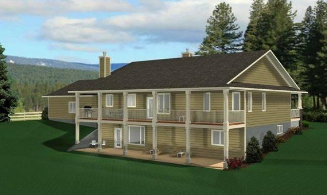 Ranch Style Bungalow Walkout Basement, Ranch Plans With Walkout Basement
