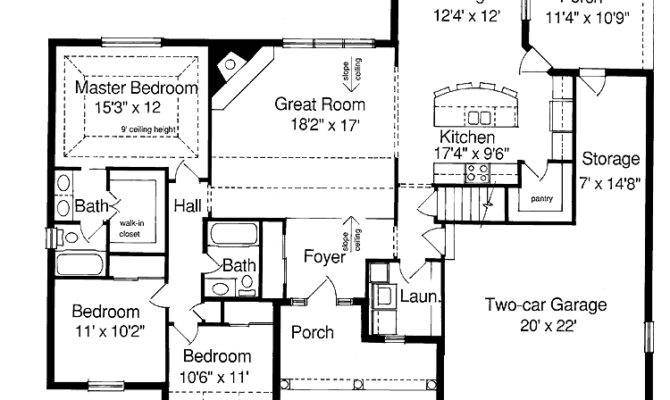 Ranch Style Homes Floor House Plans Home