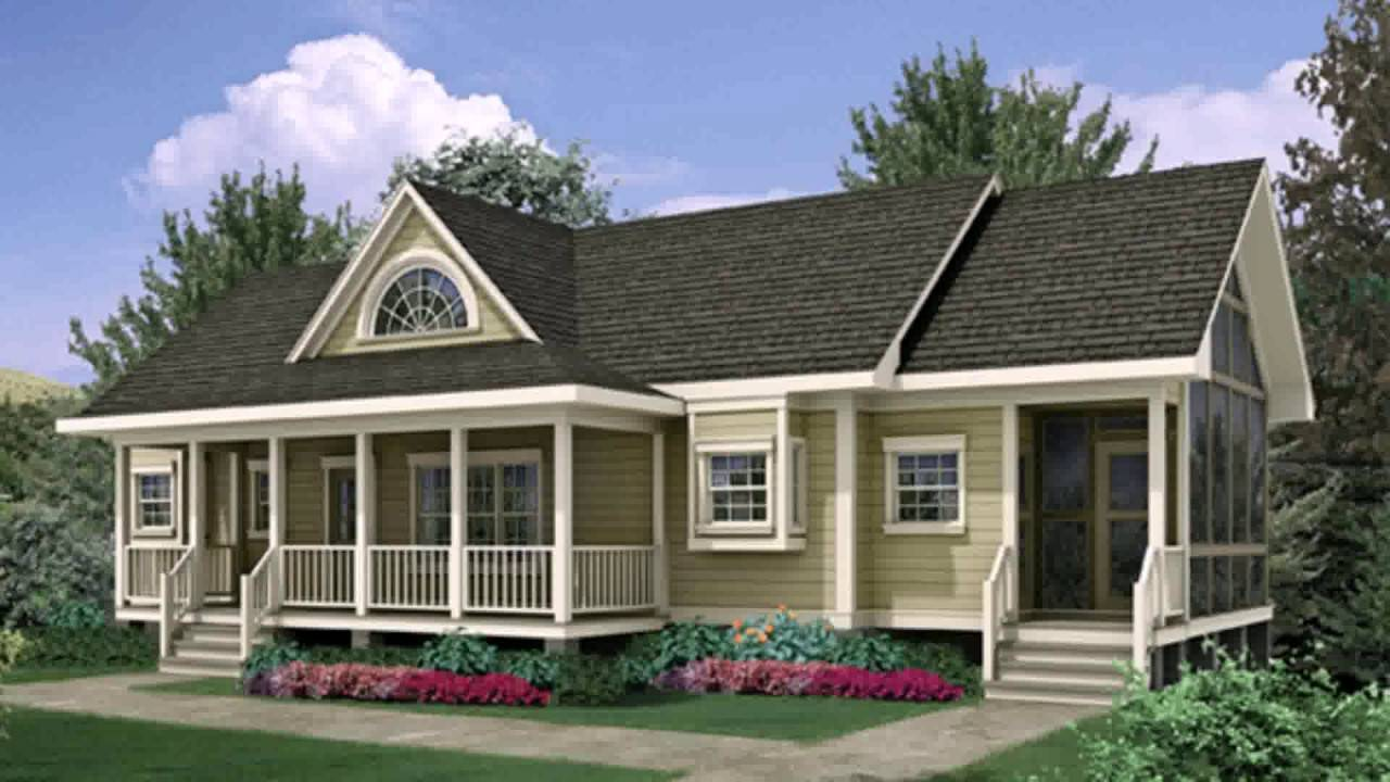 Ranch Style House Front Porch Ideas Youtube - House Plans  #29