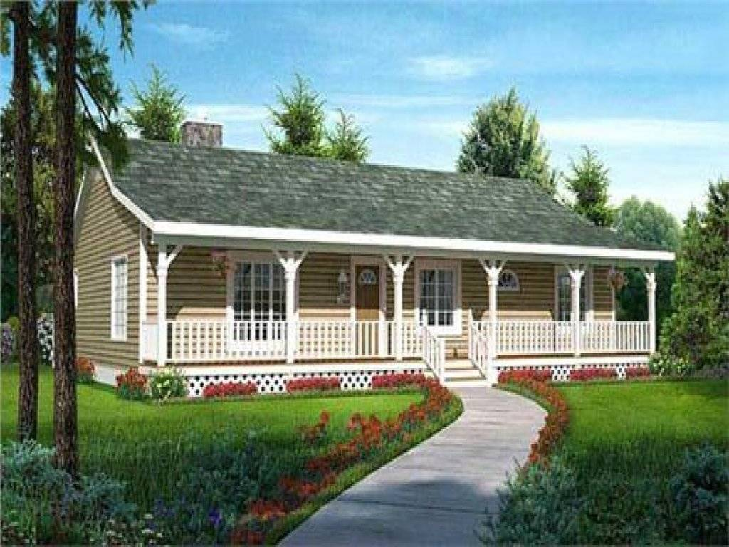 Ranch Style House Plan Front Porch Ideas - House Plans  #25