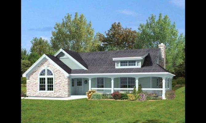 Ranch Style House Plans Basement Wrap Around Porch
