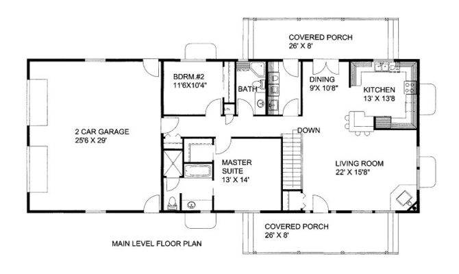 Ranch Style House Plans Square Feet
