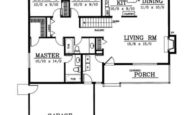 Ranch Style House Plans Square Foot Home Story