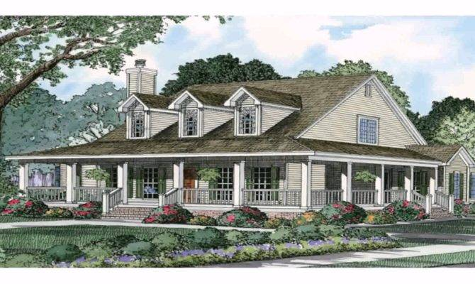 Ranch Style House Wrap Around Porch Plans Youtube