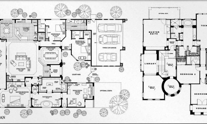 Real Estate Color Floor Plan Design Luxury