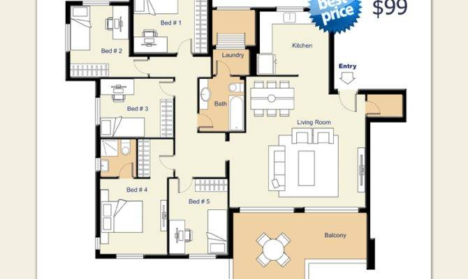 Real Estate Floor Plans Rendering Services Sample