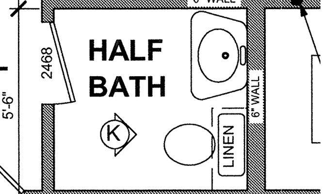 Real Life Experience Small Half Bath
