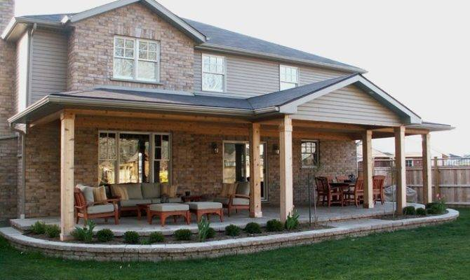 Rear Covered Porch Traditional Patio Toronto