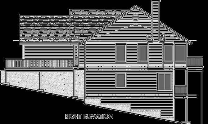 Rear House Plan Daylight Basement