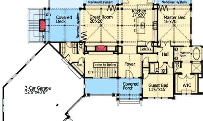 Rear House Plans Design