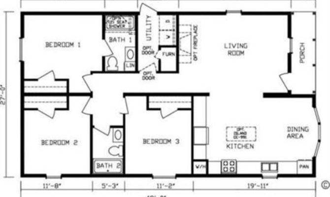 Rectangle House Plans Nice Rectangular Floor