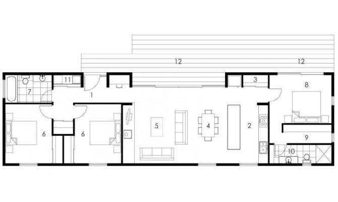 Rectangle House Plans Porch Plan Ranch