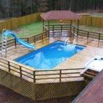 Rectangular Above Ground Pool Deck Plans