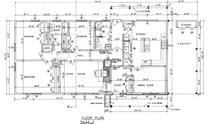 Rectangular House Floor Plans Design Blueprints
