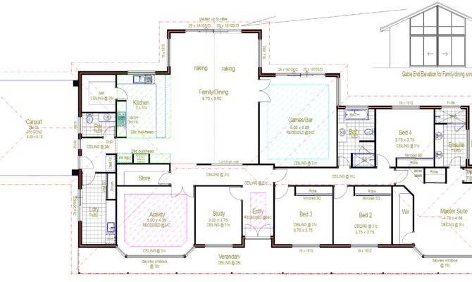 Rectangular House Plans Set Ideas