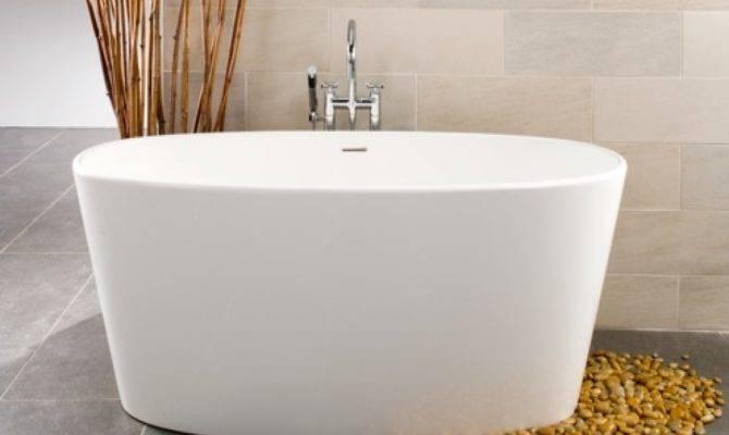 Rectangular Soaking Tub Narrow Deep Bathtub Japanese
