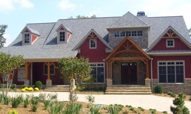 Red Siding Stone Craftsman Homes Pinterest