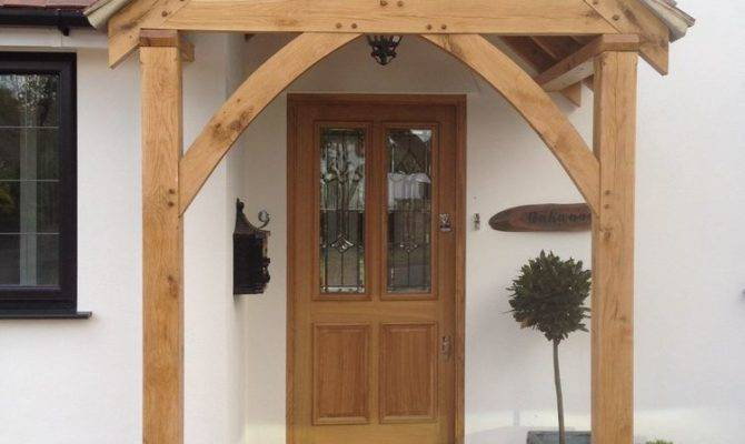 Redwood Porch Front Door Canopy Handmade Shropshire